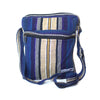 fair trade lightning striped gehri cotton cross body shoulder bag from Nepal