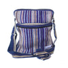 fair trade purple haze striped gehri cotton cross body shoulder bag from Nepal