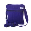 fair trade purple block colour gehri cotton cross body shoulder bag from Nepal