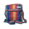 fair trade rainbow colourful striped gehri cotton cross body shoulder bag from Nepal