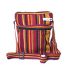 fair trade spice striped gehri cotton cross body shoulder bag from Nepal