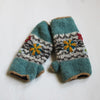 duck egg blue wrist warmers