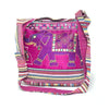 fair trade pink elephant embroidered bag sourced from india