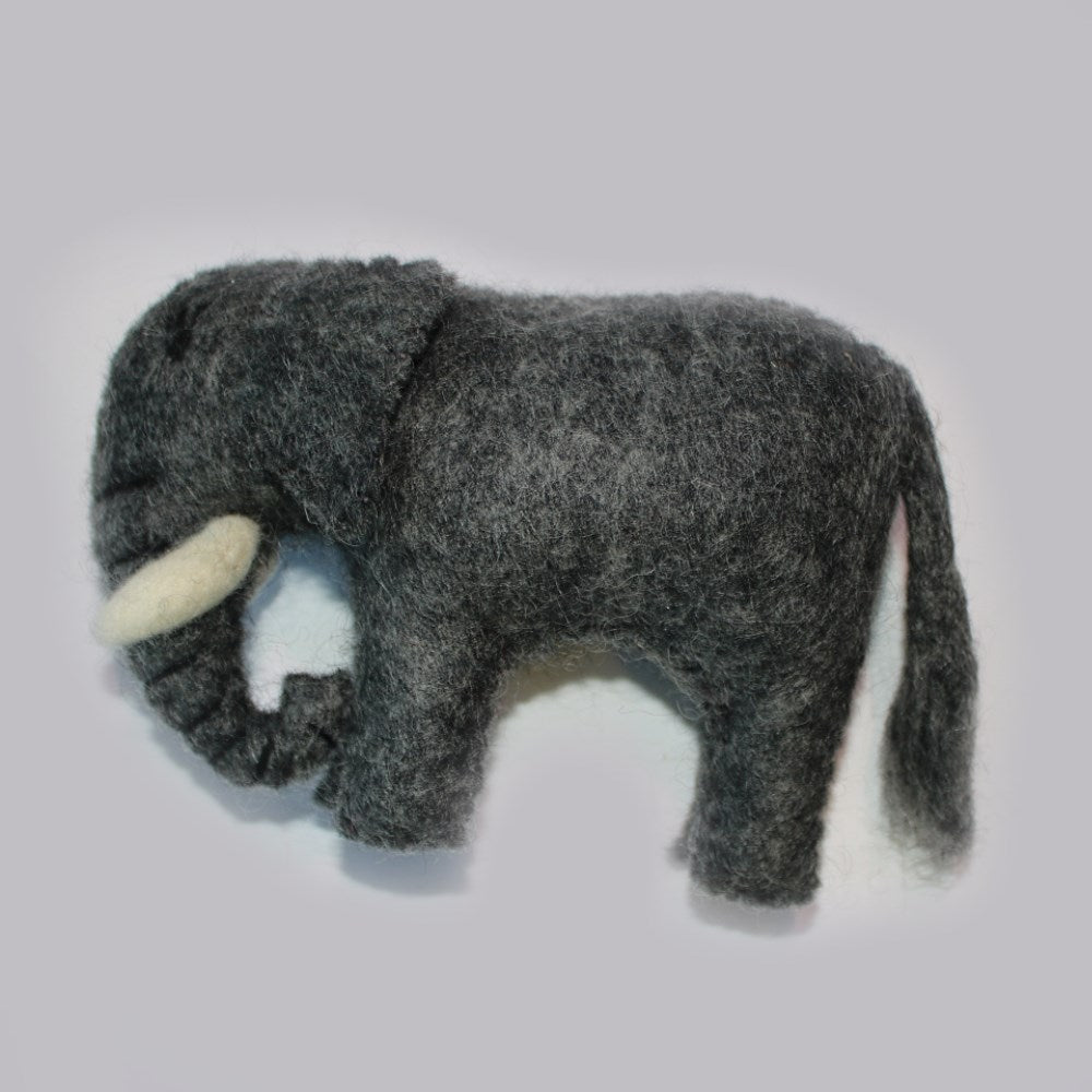 felt wool elephant from nepal