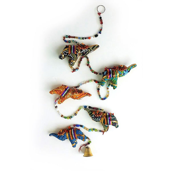 String of elephant tota bell Indian hanging decoration