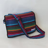 fair trade shoulder bag in firelight