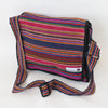 fair trade shoulder bag in pink multi