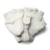fingerless mittens in plain cream colour from Nepal