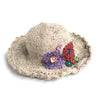 natural fair trade hemp sun hat with flowers
