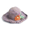 purple flower sun hat made in Nepal