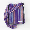 fair trade four pocket shoulder bag in purple haze
