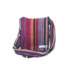 fair trade ember colourful striped gehri cotton four pocket shoulder bag from Nepal