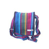 fair trade firelight colourful striped gehri cotton four pocket shoulder bag from Nepal