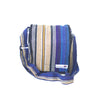 fair trade lightning colourful striped gehri cotton four pocket shoulder bag from Nepal