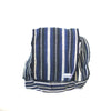 fair trade moonlight striped gehri cotton four pocket shoulder bag from Nepal