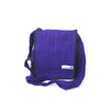 fair trade purple gehri cotton four pocket shoulder bag from Nepal