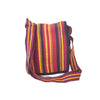 fair trade spice colourful striped gehri cotton four pocket shoulder bag from Nepal