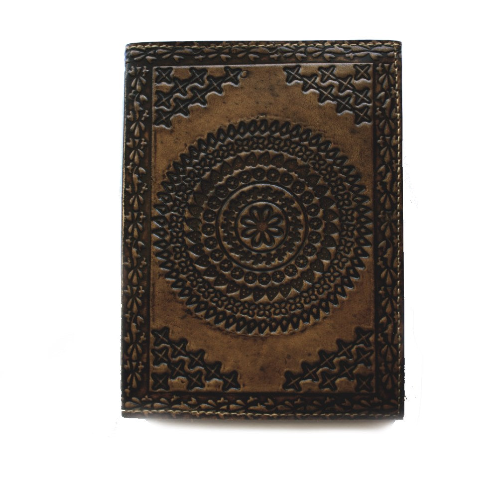brown mandala diary front view