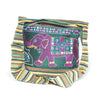 fair trade green elephant embroidered bag sourced from india
