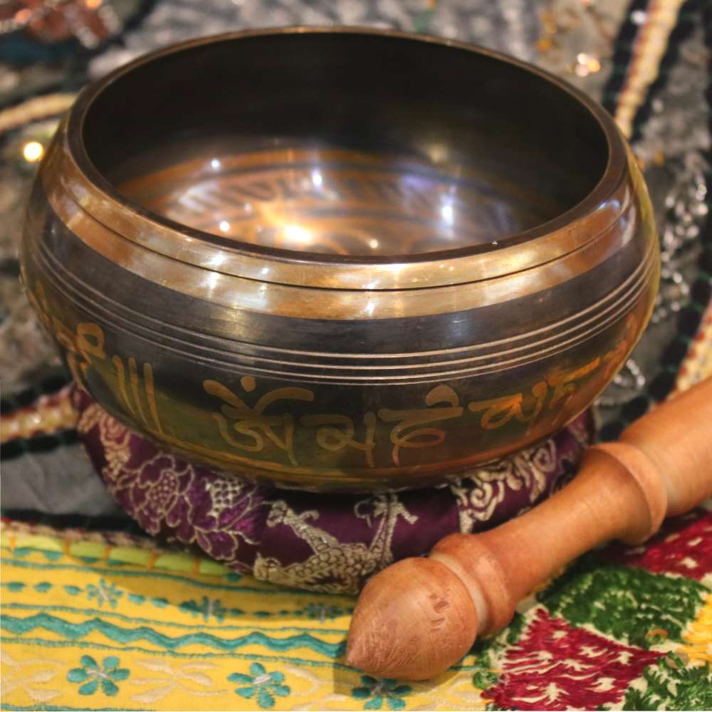 Ganesh relief singing bowl