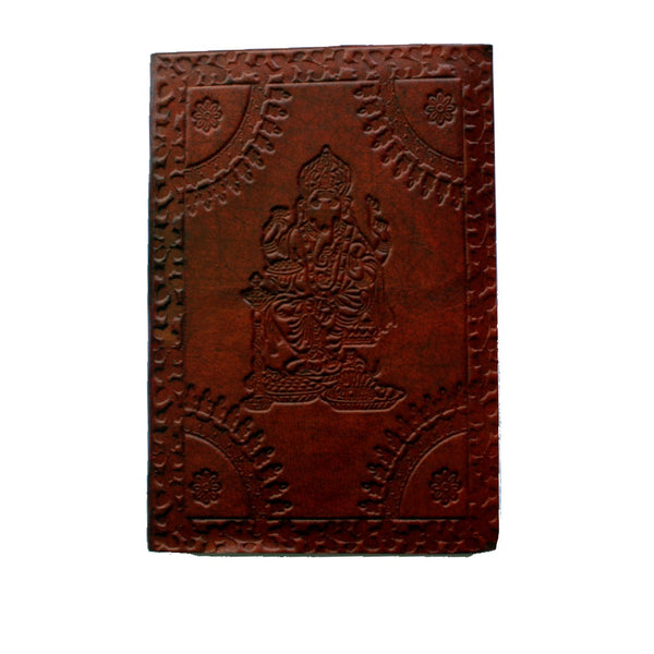 Ganesh embossed leather journal