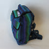 fair trade mini rucksack in green and purple