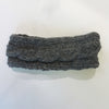 grey wool headband cable knit