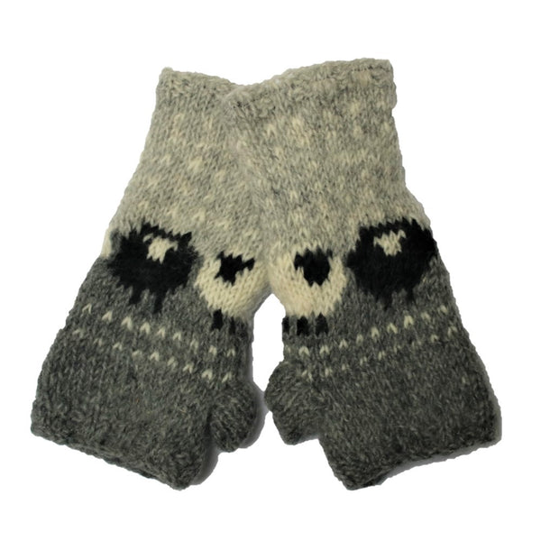 sheep wool wrist warmers