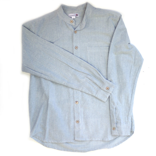 light blue men's grandad shirt