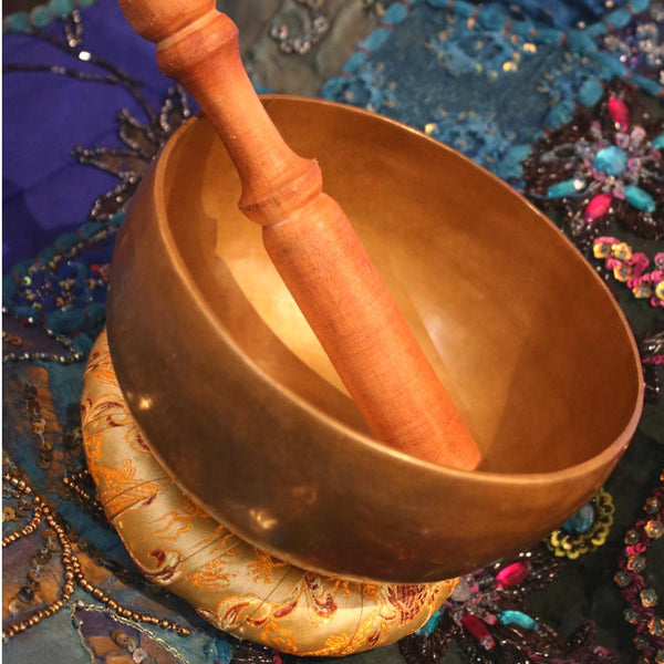 hand hammered singing bowl from Nepal
