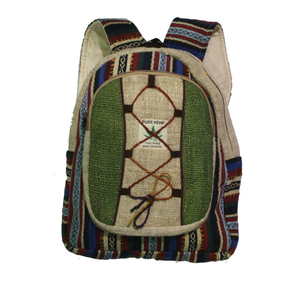 small hemp backpack