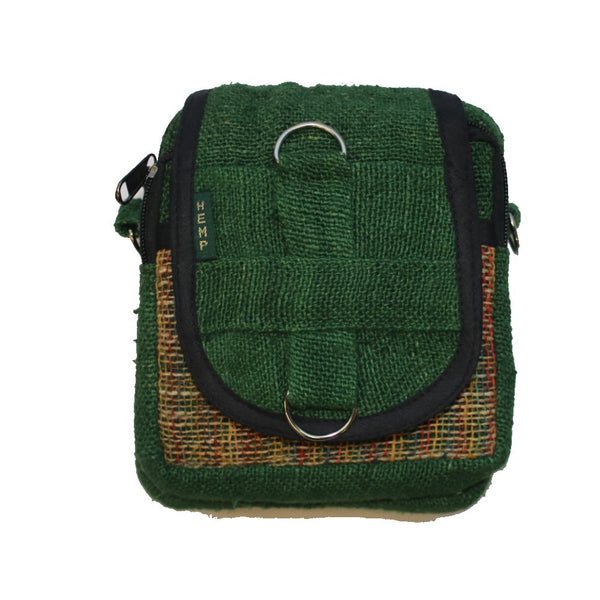 green hemp shoulder bag from nepal