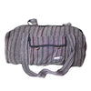 fair trade black striped gehri cotton holdall bag from Nepal