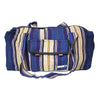 fair trade lightning colourful striped gehri cotton holdall bag from Nepal