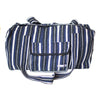 fair trade moonlight striped gehri cotton holdall bag from Nepal