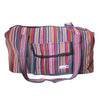 fair trade orange multi colourful striped gehri cotton holdall bag from Nepal