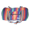 fair trade rainbow colourful striped gehri cotton holdall bag from Nepal