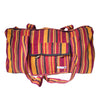fair trade spice colourful striped gehri cotton holdall bag from Nepal