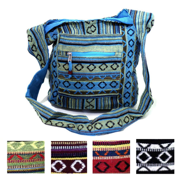 multiple styles of the fair trade indian diamond shoulder bag