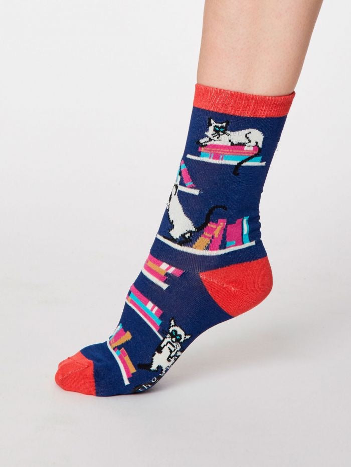 Gatto Cat Print Women's Bamboo Socks