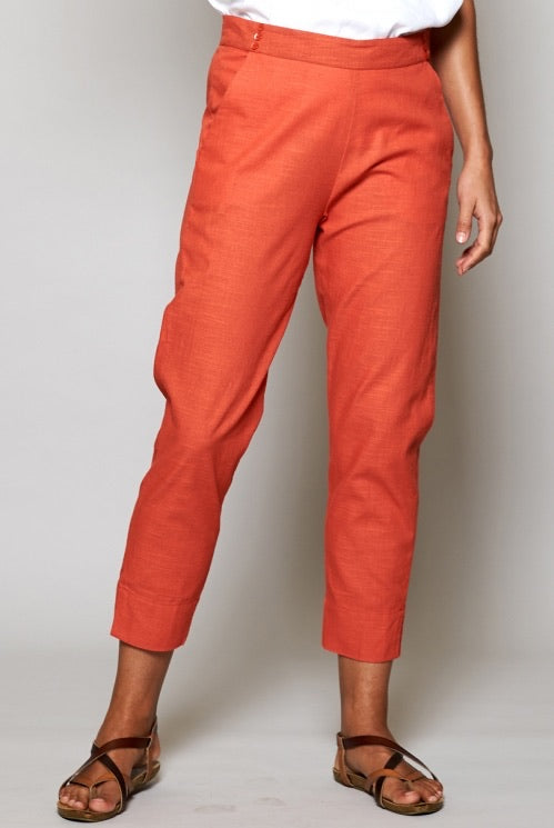 Nomads Slim Cropped Cotton Trousers