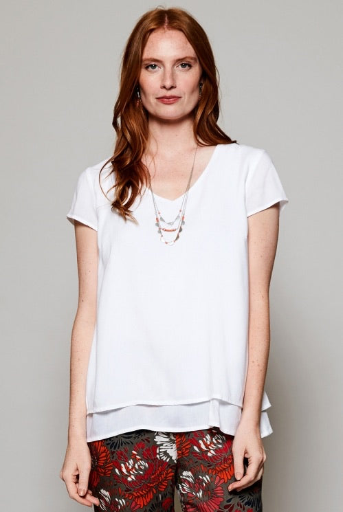 Nomads Cap Sleeve Double Layer Top