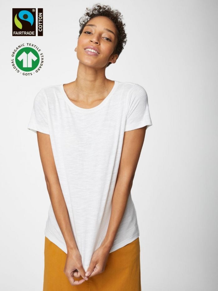 White Fairtrade Organic Cotton Organic Tee