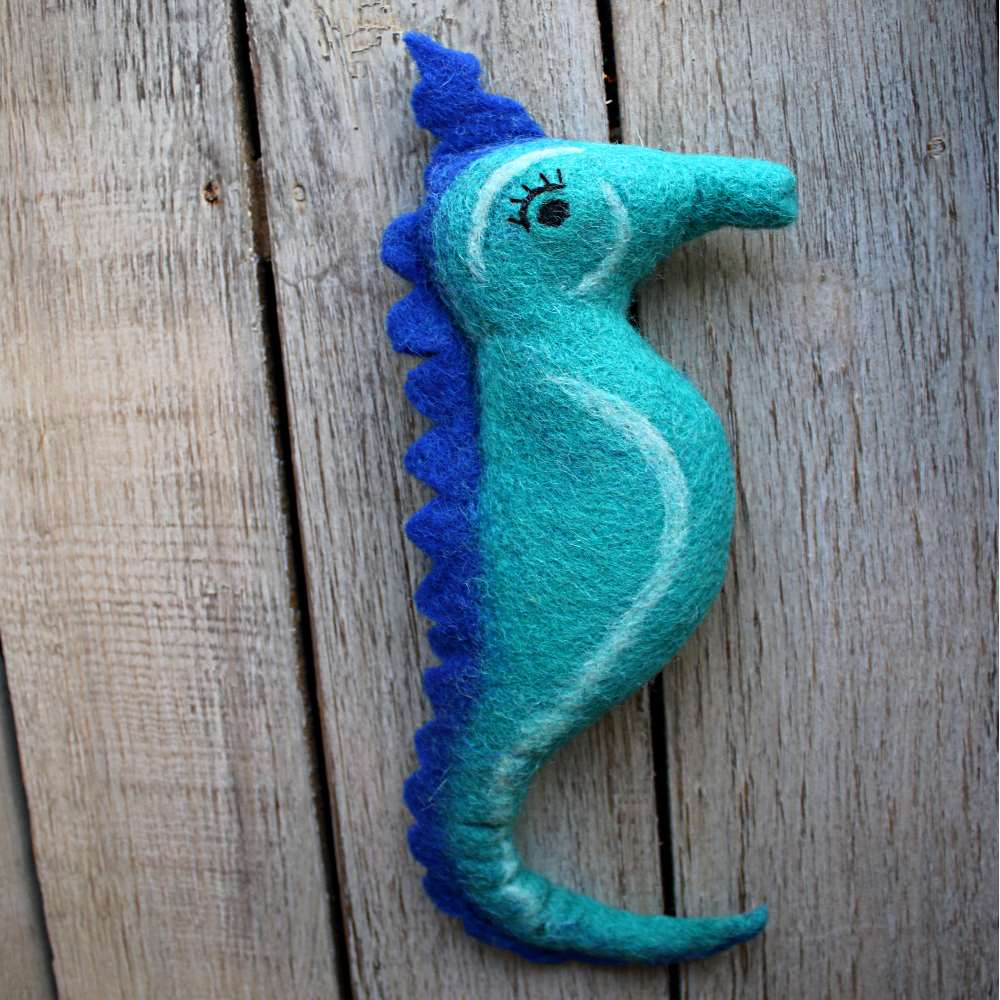 kelp the funky blue sea horse