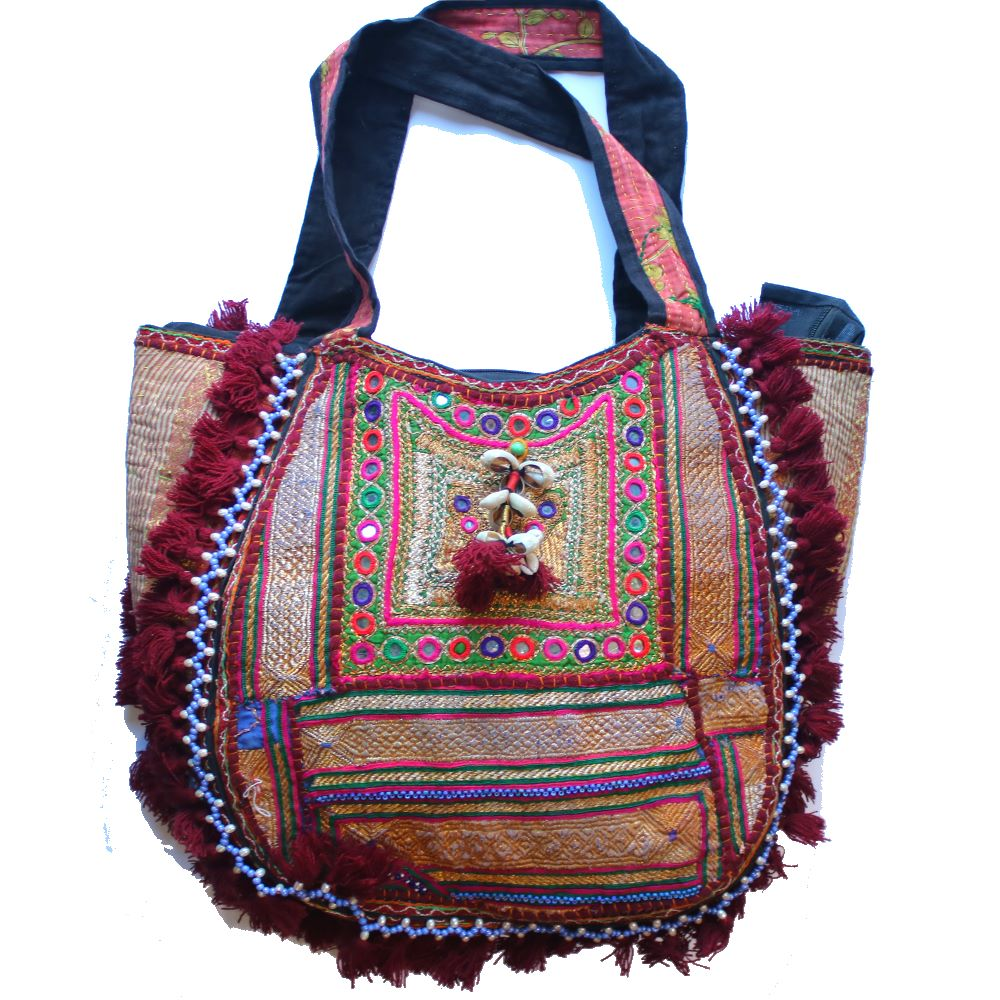 1f26669f5a2a0 Roomy Upcycled Vintage Boho Bag – From The Source