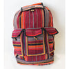 fair trade ember colourful striped gehri cotton large hippy rucksack with pockets from Nepal