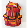 fair trade spice colourful striped gehri cotton large hippy rucksack with pockets from Nepal
