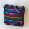 large fair trade expanding satchel bag in firelight