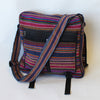 large fair trade expanding satchel bag in pink multi
