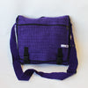 large fair trade expanding satchel bag in purple